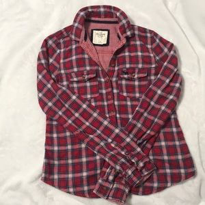 Plaid Abercrombie & Fitch Button Down Top